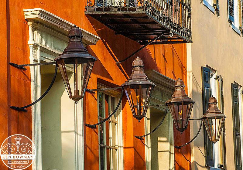 Charleston Broad Street gas lamps.
