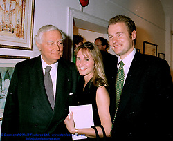 VISCOUNT ROTHERMERE and his son and daughter in<br />  law the HON.JONATHAN HARMSWORTH and MRS HARMSWORTH in 1995.  LHD 70