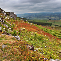 Coquetdale from The Beacon in the Simonside Hills near Rothbury Northumberland England