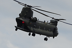 BOEING CHINOOK HELICOPTER, The Royal International  2017 Air Tattoo RAF Fairford Swindon 13th-16th July 2017.<br /> Photo:Mike Capps