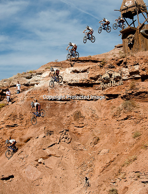 Curtis Robinson Oakley Icon Sender Drop Sequence at the 2010 Red Bull Rampage