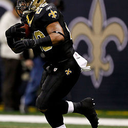 November 28, 2011; New Orleans, LA, USA; New Orleans Saints running back Mark Ingram (28) prior to kickoff of a game against the New York Giants at the Mercedes-Benz Superdome. Mandatory Credit: Derick E. Hingle-US PRESSWIRE