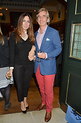DIMITRI HORNE and MELINA HORNE at a party to celebrate the publication of English Houses by Ben Pentreath held at the Art Worker's Guild, 6 Queen Square, London on 28th September 2016.