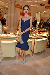 Zilin Zhang at the reopening of the Cartier Boutique, New Bond Street, London, England. 31 January 2019. <br /> <br /> ***For fees please contact us prior to publication***