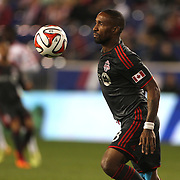 Jermain Defoe, Toronto FC, in action during the New York Red Bulls Vs Toronto FC, Major League Soccer regular season match at Red Bull Arena, Harrison, New Jersey. USA. 11th October 2014. Photo Tim Clayton
