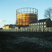 Victorian gasometer. Poplar, East london. 2003 UK