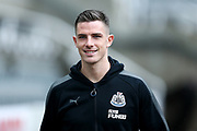 Ciaran Clark (#2) of Newcastle United arrives ahead of the Premier League match between Newcastle United and Huddersfield Town at St. James's Park, Newcastle, England on 31 March 2018. Picture by Craig Doyle.