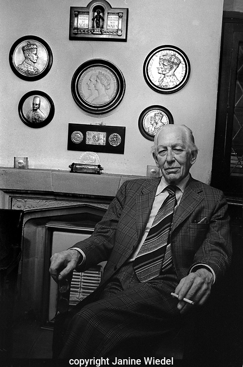 Harold Stewart Turner at Turner and Simpson silversmiths and enamelers in Birmingham's Jewellery Quarter in the 1970s