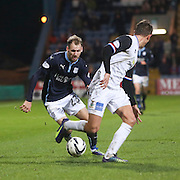 Dundees Martin Boyle runs at Inverness' Danny Williams - Dundee v Inverness Caledonian Thistle, SPFL Premiership at Dens Park <br /> <br />  - &copy; David Young - www.davidyoungphoto.co.uk - email: davidyoungphoto@gmail.com