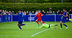 LEICESTER, ENGLAND - Easter Monday, April 17, 2017: Liverpool's captain Harry Wilson scores the third goal against Leicester City during the Under-23 FA Premier League 2 Division 1 match at Holmes Park. (Pic by Concepcion Valadez/Propaganda)