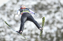 March 22, 2019 - Planica, Slovenia - Markus Eisenbichler of Germany seen in action during the trial round of the FIS Ski Jumping World Cup Flying Hill Individual competition in Planica. (Credit Image: © Milos Vujinovic/SOPA Images via ZUMA Wire)