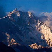 The 10,000 foot South Face of Lhotse from the Everest View Hotel, Syangboche, Khumbu Valley, Nepal.