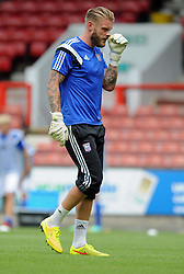 Ipswich Town's Dean Gerken - photo mandatory by-line David Purday JMP- Tel: Mobile 07966 386802 02/08/14 - Leyton Orient v Ipswich Town - SPORT - FOOTBALL - Pre season - London -  Matchroom Stadium