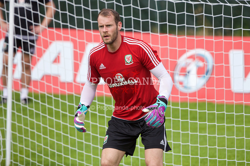 VALE DO LOBO, PORTUGAL - Thursday, May 26, 2016: Wales' goalkeeper Owain Fon Williams during day three of the pre-UEFA Euro 2016 training camp at the Vale Do Lobo resort in Portugal. (Pic by David Rawcliffe/Propaganda)