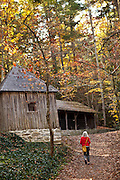 A barn the home of author and poet Carl Sandburg in Flat Rock, NC