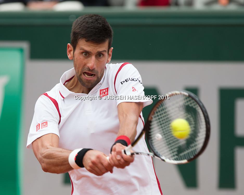 Novak Djokovic (SRB)<br /> <br /> Tennis - French Open 2016 - Grand Slam ITF / ATP / WTA -  Roland Garros - Paris -  - France  - 26 May 2016.