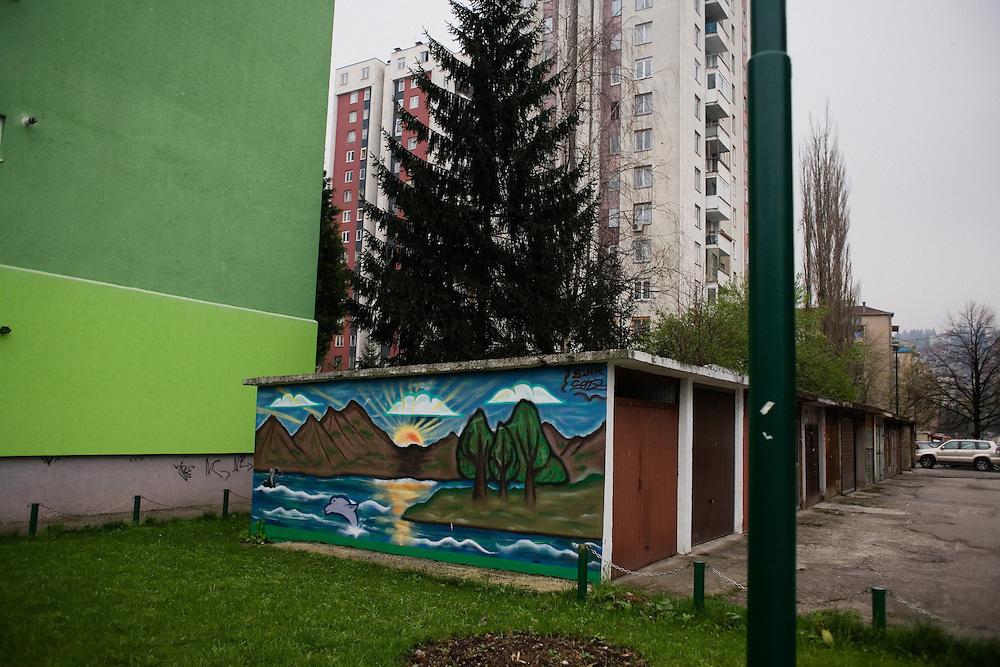 Grbavica neighborhood of Sarajevo.