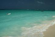 Africa. Tanzania. Zanzibar. Nungwi Beach..Black sky as storm approaches..CD0011