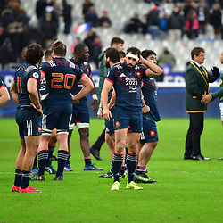 Disappointment for France as they lose the test match between France and South Africa at Stade de France on November 18, 2017 in Paris, France. (Photo by Dave Winter/Icon Sport)