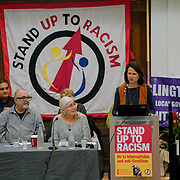 London, England, UK. 21st October 2017. Speaker Catherine West MP is a Lobour party at the National Conference: Confronting the rise in racism, Islamophobia and anti-semitism in the U.S. and Europe at the Friends House, Euston.