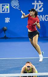 SHENZHEN, Jan. 5, 2019  Duan Yingying (R) and Renata Voracova compete during the women's doubles final match agains Peng Shuai Yang Zhaoxuan of China at the WTA Shenzhen Open tennis tournament in Shenzhen, south China's Guangdong Province, Jan. 5, 2019. (Credit Image: © Xinhua via ZUMA Wire)