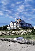 Waterfront beach house on Chatham Harbor, Cape Cod, Massachusetts, USA.