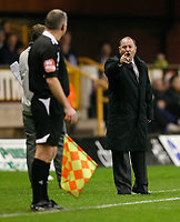 Photo: Steve Bond/Sportsbeat Images.<br /> Wolverhampton Wanderers v Bristol City. Coca Cola Championship. 03/11/2007. Gary Johnson disagrees with the linsman
