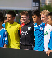 Hong Kong, China - Thursday, July 26, 2007: Liverpool's Steven Gerrard MBE attends the Adidas Asia Challenge 2007, a 5-a-side event at the Tsimshatsui Drive-in Theatre in Hong Kong. (Photo by David Rawcliffe/Propaganda)