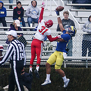 Stony Brook defensive back MARVIN HART (31) defends in the end zone during a week eight game between the Delaware Blue Hens and the Stony Brook Seawolves, Saturday, Oct. 22, 2016 at Tubby Raymond Field at Delaware Stadium in Newark, DE.