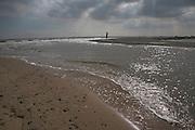 Sea breach of beach bar, Benacre Broad, national nature reserve, Suffolk, England
