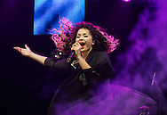 Ella Eyre performs on stage as part of the Clyde 1 Live concert at The SSE Hydro on December 6, 2014 in Glasgow, United Kingdom. (Photo by Ross Gilmore)