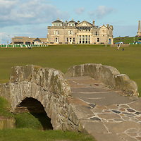 The Swilcan Bridge, on the Old Course, St Andrews, Scotland