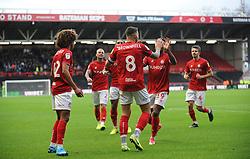 Josh Brownhill of Bristol City celebrates his goal  - Mandatory by-line: Nizaam Jones/JMP - 30/11/2019 - FOOTBALL - Ashton Gate - Bristol, England - Bristol City v Huddersfield Town - Sky Bet Championship