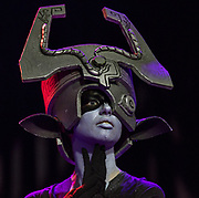 Performer Irene portrays Midna the Twilight Princess for the Masquerade crowd during Otakon Vegas at Planet Hollywood on Saturday, Jan. 14, 2017.   L.E. Baskow