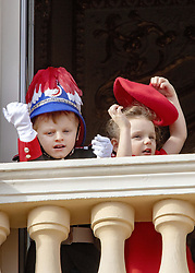 November 19, 2019, Monaco, Monaco: 19-11-2019 Monte Carlo Prince Jacques and Princess Gabriella on the balcony during the Monaco national day celebrations in Monaco. (Credit Image: © face to face via ZUMA Press)