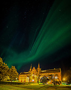 A fantastic night in Trondheim with so much dancing lights in the sky. Actually the aurora was so strong and unusual in that night that everybody could see it even inside the city.