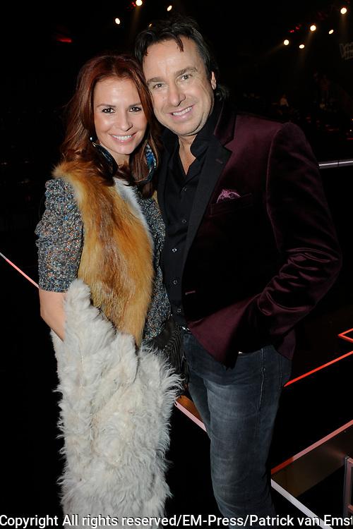 Finale van het vierde seizoen The Voice of Holland.<br /> <br /> Op de foto:  Marco en Leontine Borsato