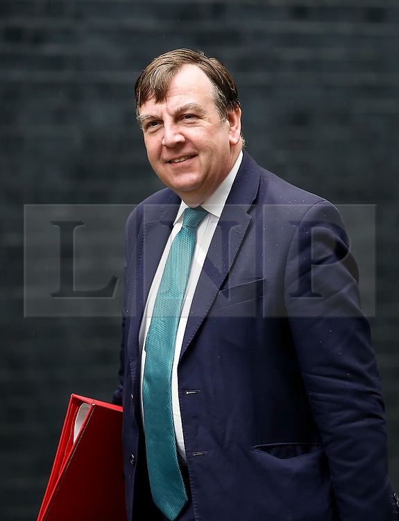 © Licensed to London News Pictures. 10/05/2016. London, UK. Secretary of State for Culture, Media and Sport JOHN WHITTINGDALE arrives at Number 10 Downing Street in Westminster, London for cabinet meeting. Photo credit: Tolga Akmen/LNP