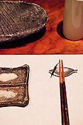 Place setting at Wasabi restaurant.