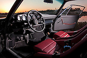 Automotive Photographer and Promotional Writer Randy Wells, Image of a Porsche 1970 911 RSR Replica interior near Newport Beach, California, America west coast, property released