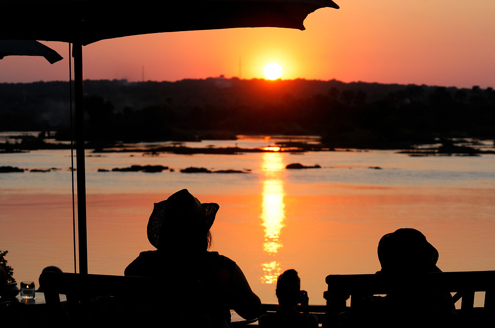 Sunset over Zambesi River, Livingstone, Southern Province, Zambia