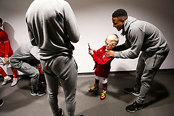 Niclas Eliasson of Bristol City as mascots meet the players - Rogan/JMP - 10/12/2019 - Ashton Gate Stadium - Bristol, England - Bristol City v Milwall FC - Sky Bet Championship.
