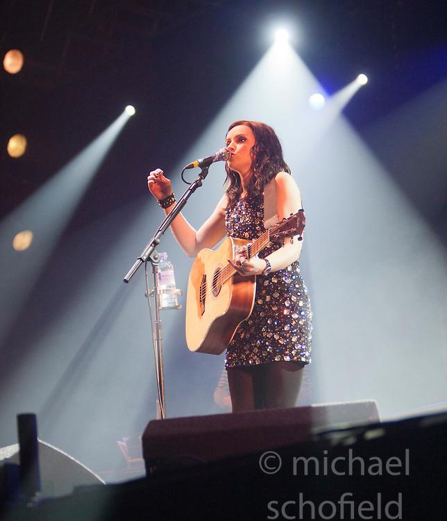 Amy MacDonald playa the King Tuts Wah Wah tent. Saturday, at T in the Park 2012, held at Balado, in Fife, Scotland..