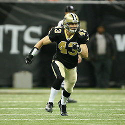 2007 December, 16: New Orleans Saints FS Kevin Kaesviharn (43) in action during a 31-24 win by the New Orleans Saints over the Arizona Cardinals at the Louisiana Superdome in New Orleans, LA.