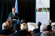 Interpeace launches the handbook: 'Constitution-making and reform: Options for the Process' a comprehensive resource for national constitution-makers and their advisors. Scott M. Weber, Director-General of Interpeace. The book release took place at the United Nations on September 9, 2011 in New York. The event was photographed for Interpeace by Jeffrey Holmes, event photographer New York.
