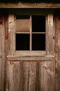 Shed window.<br /> Photographed by editorial lifestyle photographer Nathan Lindstrom