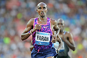 Mo Farah aka Mohamed Farah (GBR) wins the 10,000m in 27:12.09 during the 56th Ostrava Golden Spike in an IAAF World Challenge meeting at Mestky Stadion in Ostrava, Czech Republic on Wednesday, June 28, 20017. (Jiro Mochizuki/Image of Sport)