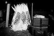 Napoli, Italia - 22 febbraio 2013. Un momento del comizio che avrebbe dovuto tenere Silvio Berlusconi, candidato premier per il Popolo della Libertà. Berlusconi ha rinunciato all'ultimo momento di presenziare al comizio di chiusura della campagna elettorale nel capoluogo partenopeo a causa di una violenta forma virale di congiuntivite. Il leader del PDL è comunque apparso in un video messaggio..Ph. Roberto Salomone Ag. Controluce.ITALY - A moment of the convention that italian right party  Partito della Libertà leader Silvio Berluscon should have held in Naples on February 22, 2013. The candidate did not show up to the convention at cause of a sudden eye illness. Berlusconi appeared with a video message.