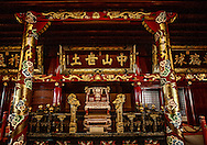Throne room in Shuri Castle show appears more Chinese than Japanese.  Okinawa, then known as the Ryukyu Kingdom was a tributary state of the Ming Dynasty of China until the Satsuma Domain of Southern Kyushu conquered it and brought it within the Japanese fold in the 17th century.<br /> <br /> There are some in China who believe that Okinawa should be returned to China, though it was an independent state during the Ming Dynasty and its language and culture closer to that of Japan than China.