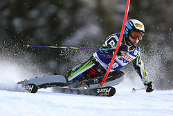 06.01.2014, Stelvio, Bormio, ITA, FIS Weltcup Ski Alpin, Bormio, Slalom, Herren, im Bild Naoki Yuasa // Naoki Yuasa  in action during mens Slalom of the Bormio FIS Ski World Cup at the Stelvio in Bormio, Italy on 2014/01/06. EXPA Pictures © 2014, PhotoCredit: EXPA/ Sammy Minkoff<br /> <br /> *****ATTENTION - OUT of GER*****